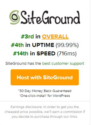 SiteGround - Best WordPress Host